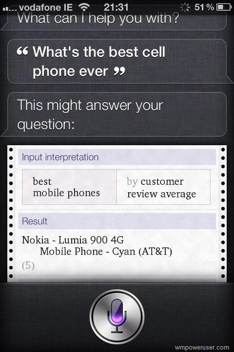 Le meilleur smartphone jamais construit n'est pas un Apple... et c'est Siri qui le dit