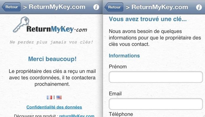 Return My Key - Retrouvez vos clés grâce au QR Code