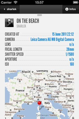 iso500, une superbe application iOS pour 500px