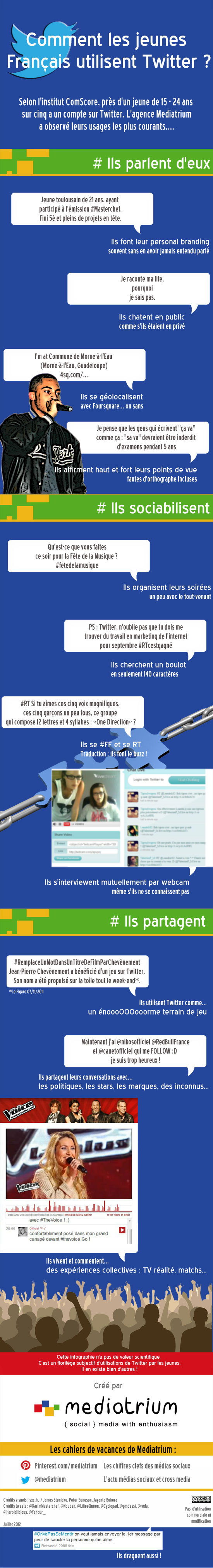 Les jeunes français et Twitter en 1 image