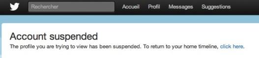 Twitter suspend le compte d'un journaliste anglais