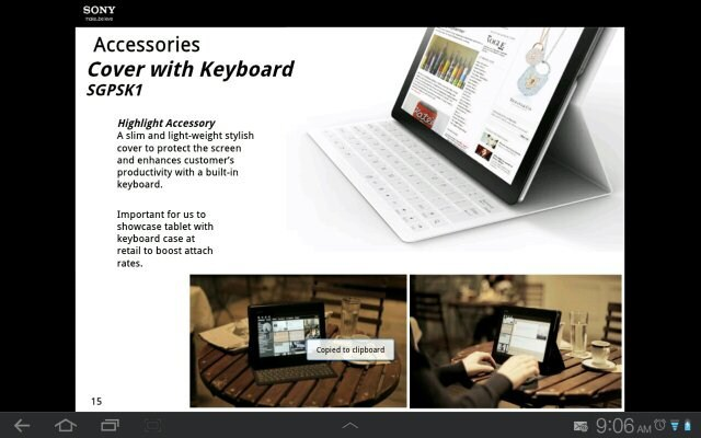 Une Xperia Tablet dans les cartons de Sony ?