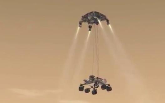 Arrivée de Curiosity sur Mars en direct
