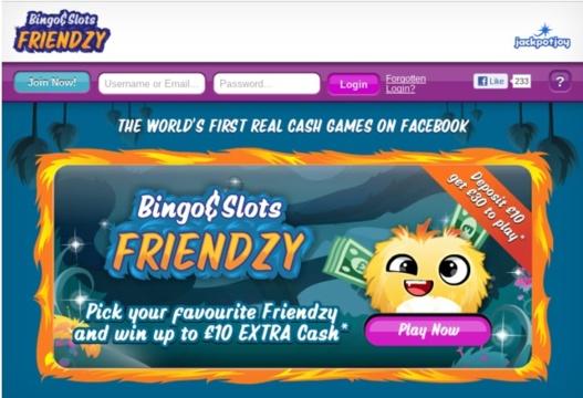 Bingo Friendzy - Le premier jeu d'argent sur Facebook