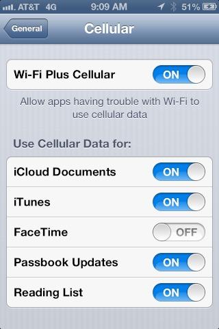 iOS 6 beta 4 - La 3G pourra être utilisée en cas d'absence de Wifi