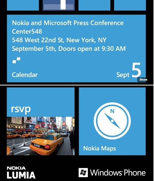 Nokia Lumia Windows Phone 8 - La conférence du 5 septembre confirmée
