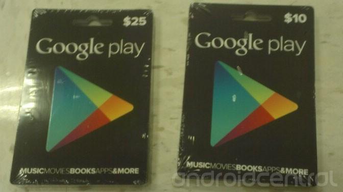 Des cartes cadeaux Google Play bientôt dans nos boutiques?