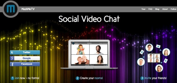 MashMe.tv - Visioconférence gratuite à 10 personnes avec différents services