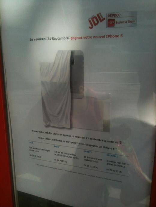 iPhone 5 - Le 21 septembre chez SFR