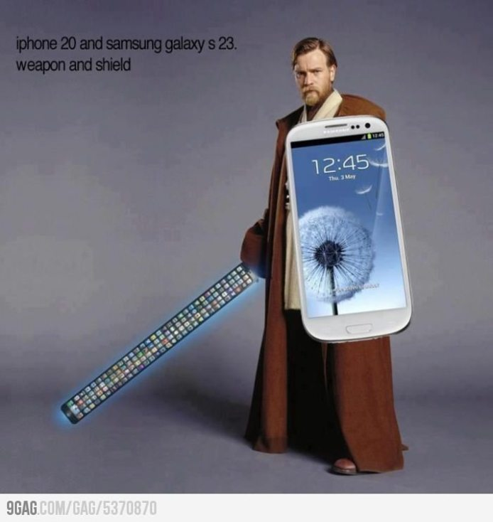 Apple vs Samsung - Les armes absolues du futur (humour)