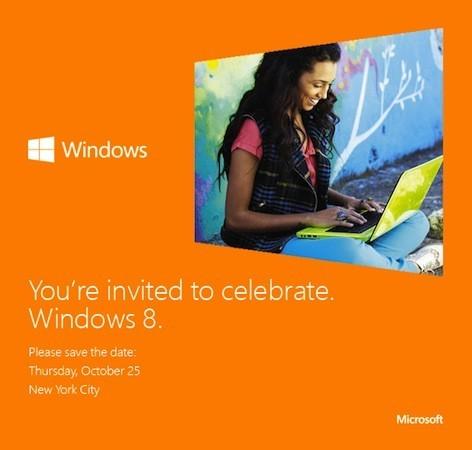 Windows 8 - Microsoft envoie les invitations pour le 25 octobre