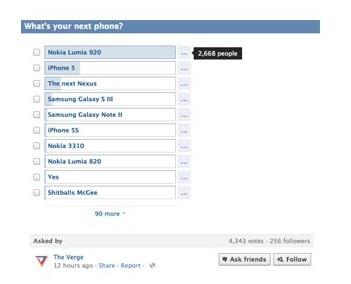 Entre iPhone 5 et Galaxy S3 les gens préfèrent le Lumia 920
