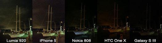 iPhone 5 vs Lumia 920 vs HTC One X vs Galaxy S3 - La preuve par l'image