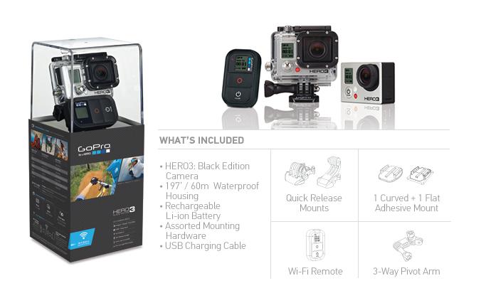 Go Pro annonce les nouvelles caméras Hero 3 qui vont tout casser
