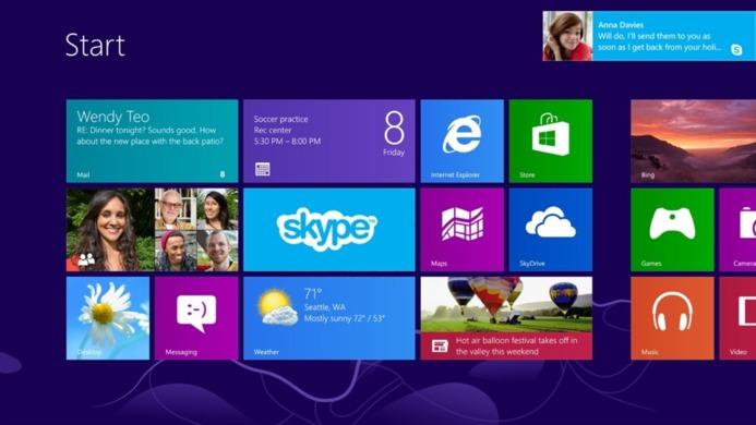 Microsoft lève le voile sur l'application Skype pour Windows 8
