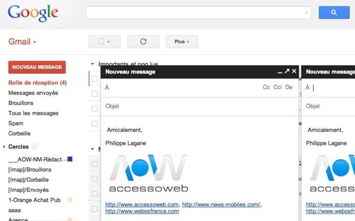 Gmail améliore l'envoie de mails