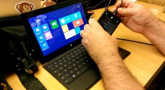 Connexion d'un Lumia 920 avec une Microsoft Surface