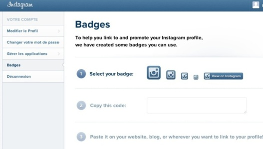 Instagram - Les badges de promotions sont disponibles