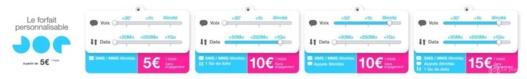 JOE Mobile lance le forfait personnalisable dès 5 €