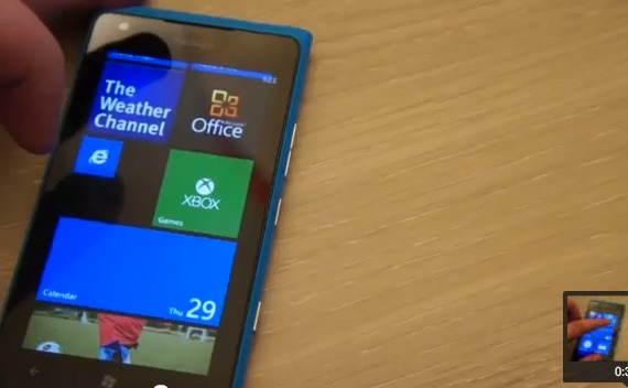 Windows Phone 7.8 sur un Lumia 900