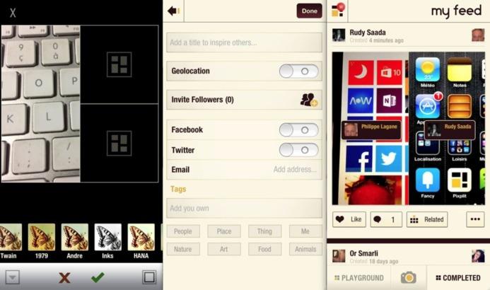 Pixplit - Un savant mélange d'Instagram et Pinterest collaboratif sur iPhone #LeWeb12