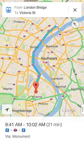 iOS - L'application Google Maps signe son grand retour sur iPhone
