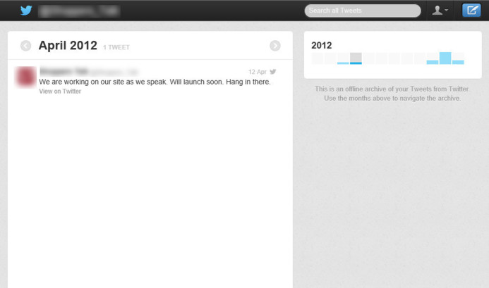 Twitter - Le Backup des tweet bientôt en service?