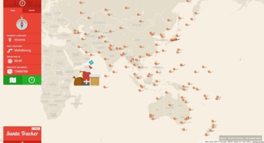 La tournée du Père Noël sur Google Maps