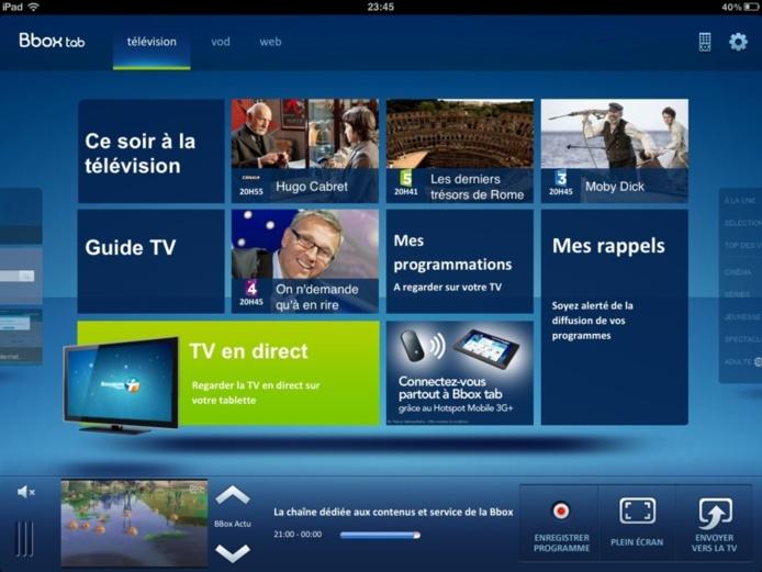 Bbox Tab - L'application géniale de Bouygues Telecom