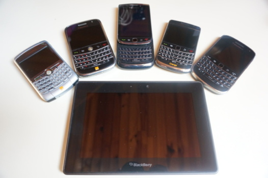 Blackberry - Photo de famille avant Blackberry 10