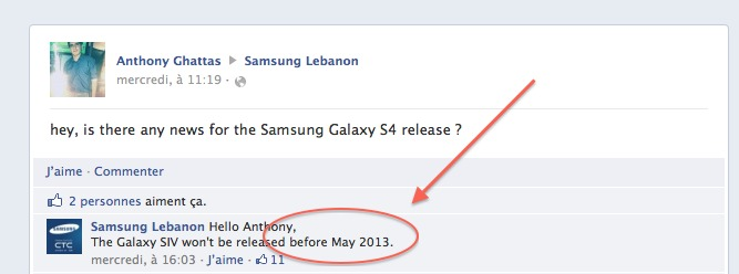Le Samsung Galaxy S4 pour Mai 2013