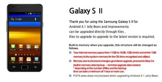 Android 4.1 Jelly Bean pour Samsung Galaxy S2 arrive