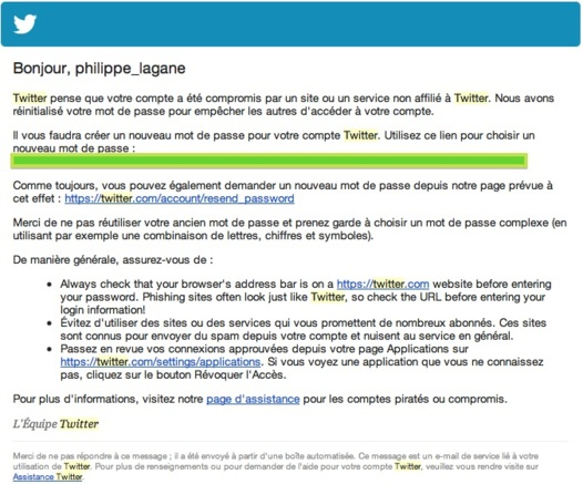 Twitter victime de piratage