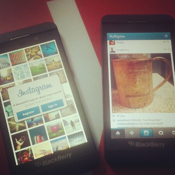 Blackberry Z10 - Instagram arrive bientôt sur Blackberry 10