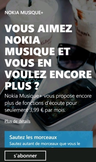Nokia Musique+ est disponible en Angleterre