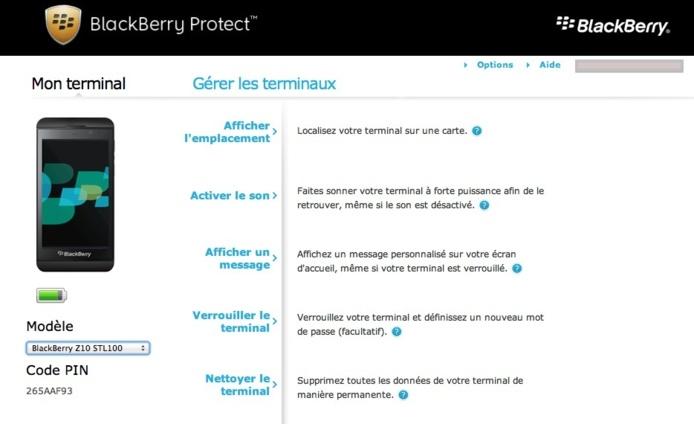Activer Blackberry Protect sur Blackberry 10