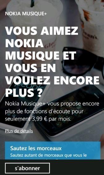 Nokia Musique+ est disponible en France