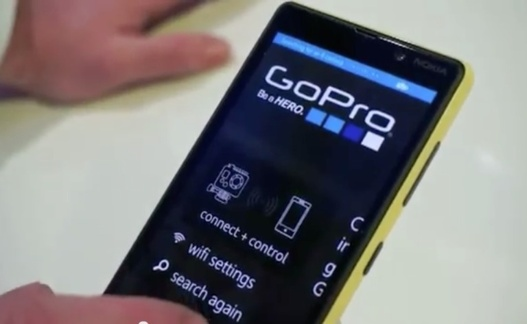 L'application GoPro pour Windows Phone 8 disponible mi Mars