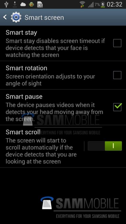 Galaxy S4 - Le pilotage avec les yeux ou la tête se confirme