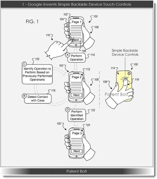 Google dépose un brevet pour des contrôles tactiles au dos des mobiles