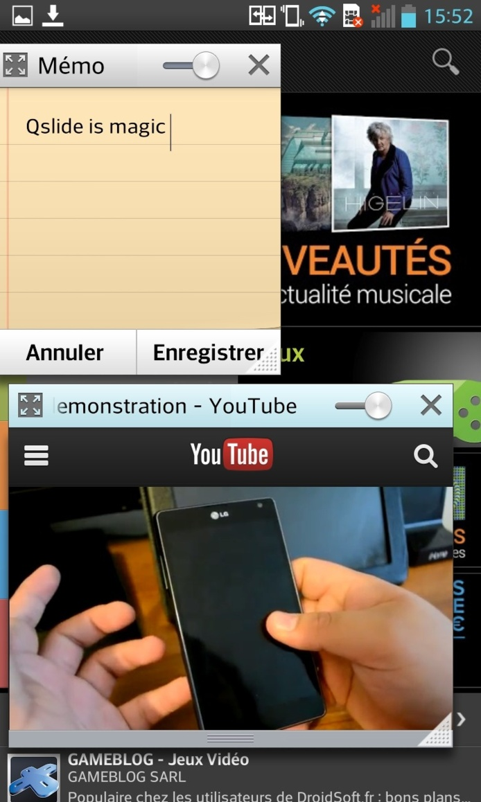 LG - Optimus G - Le test