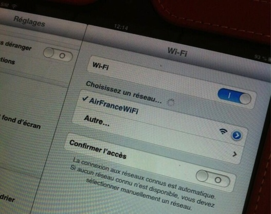 Le Wifi dans l'avion  - Air France l'a fait !