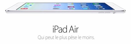 Apple annonce l'iPad Air, une tablette Ovni