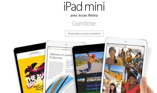 Apple met à jour son iPad Mini avec un écran Retina