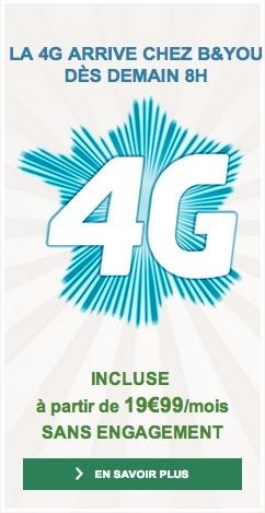 La 4G arrive chez B&YOU