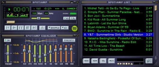 Spotiamp - Le logiciel qui ressuscite Winamp avec du Spotify