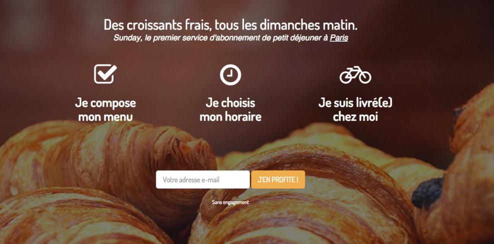 Sunday - Se faire livrer les croissants le dimanche matin ça vous tente ?