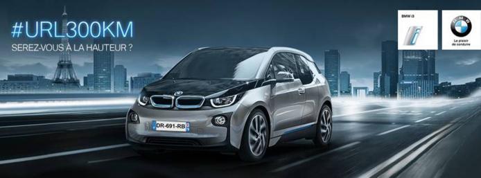 #url300km - BMW électrise le web avec son jeu pour gagner une BMW i3