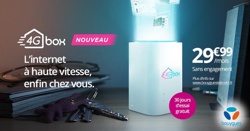 4G Box de Bouygues Telecom - Du très haut débit pour tous