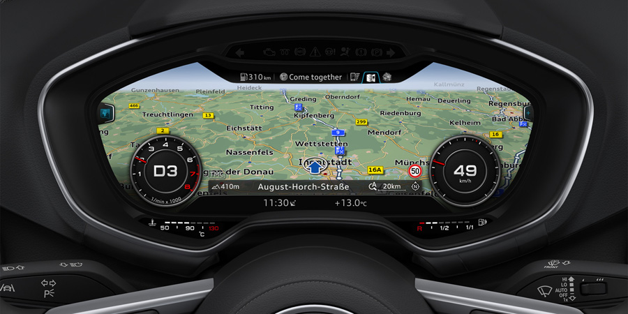 D 233 Monstration De L Audi Virtual Cockpit Vid 233 O